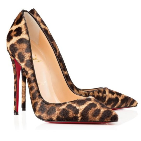 cedda204f06 Christian Louboutin So Kate 120 Pony Leopard
